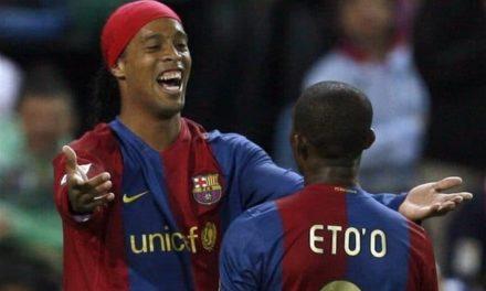 Samuel Eto'o adresse un message à Ronaldinho pour Anniversaire