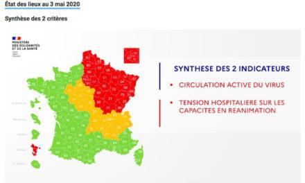 La carte de déconfinement de la France le dimanche 3 Mai