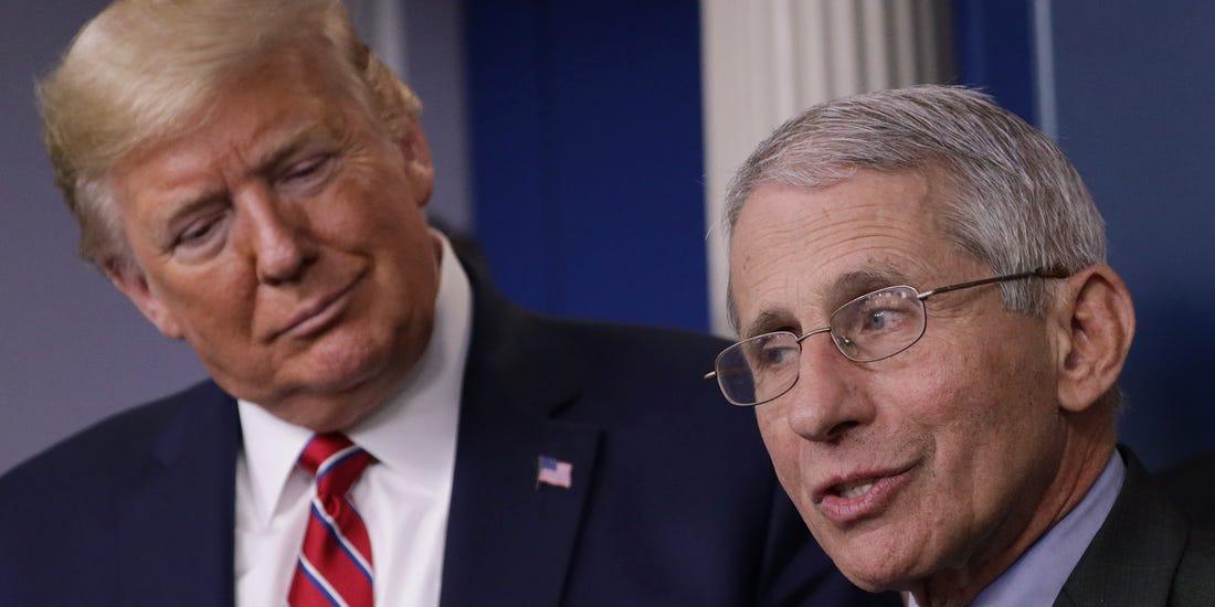 Déconfinement : L'expert du gouvernement Docteur Fauci contredit Trump