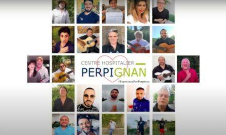 Perpignan : Yvan Le Bolloc'h  et La communauté Gitane chante pour l'hôpital