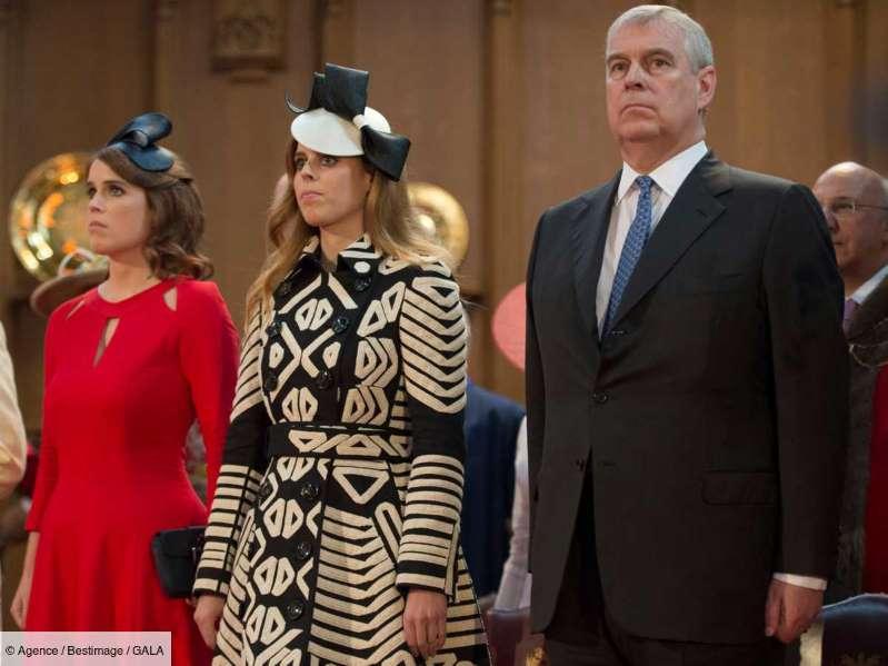 Le Prince Andrew soutenu par ses enfants