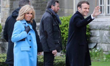 Brigitte et Emmanuel Macron de retour au Touquet
