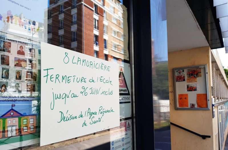 Fermeture d'une école à Paris pour cause de Covid