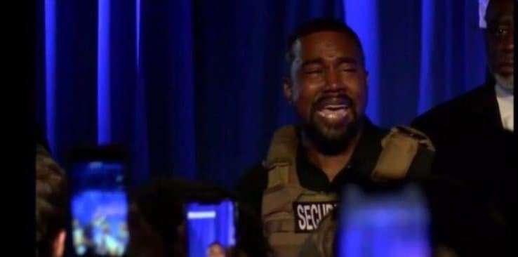 Kanye West en route vers la présidentielle – En Larmes lors de son premier meeting en Caroline du Sud