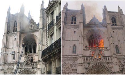 Incendie à la Cathédrale Gothique de Nantes