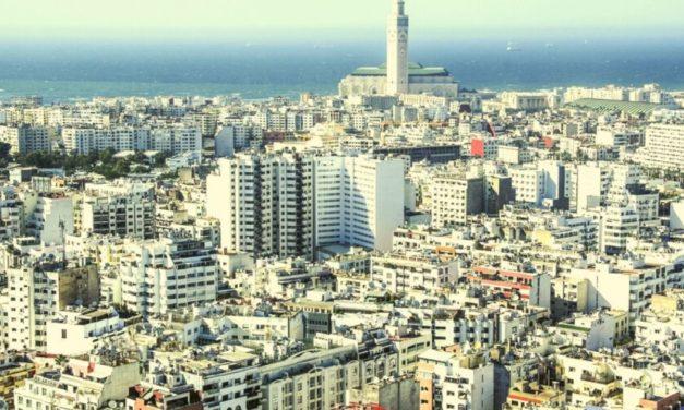La Ville de Casablanca sous l'eau