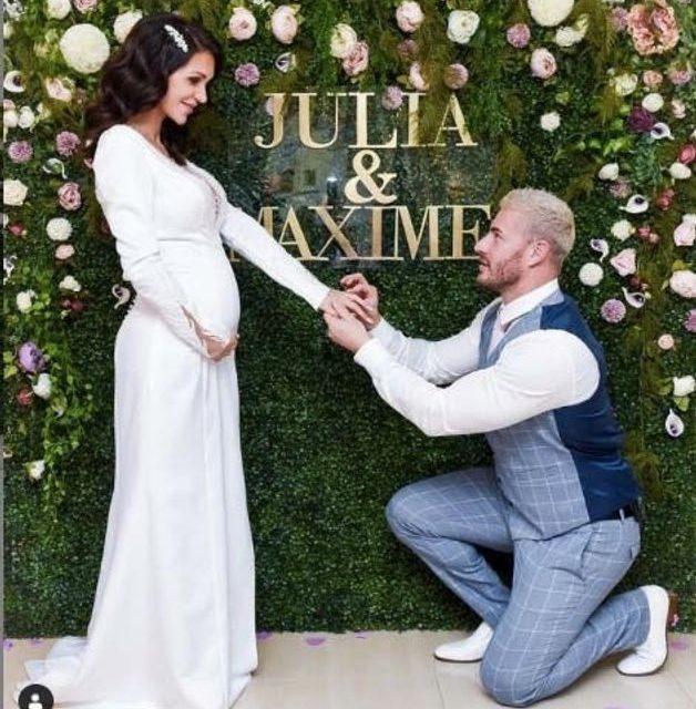 Julia Paredes enceinte et mariée à Parisi Maxime