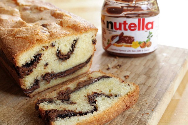 Cake au nutella de Cyril Lignac