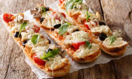 Recette minute de Pizza Baguette à la mozzarella