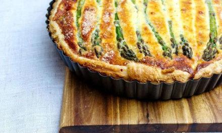 La recette de la tarte aux asperges d'Hélène Darroze