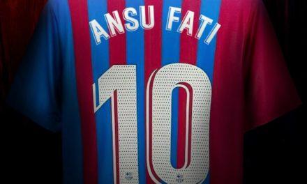 Le nouveau numero 10 du Barca
